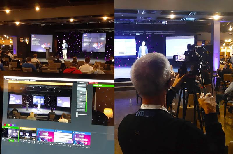 Backstage трансляції конференції BlockchainUA, оператор